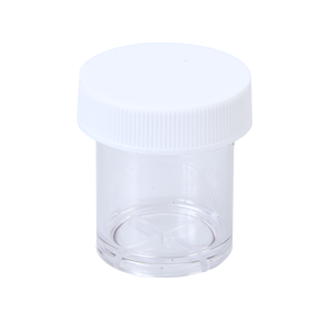 (2251-PC) 15 mL Short Polycarbonate Vial with Screw-On Cap