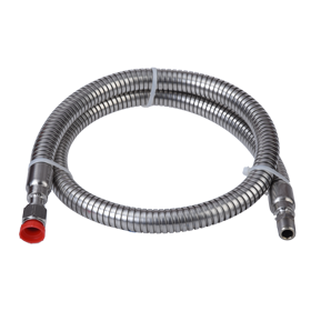 (6906) Short Cryogenic Transfer Hose, 4 ft (1.2 m)