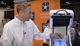 Tim Osborn-Jones at Pittcon demonstrating the newxt generation Geno/Grinder